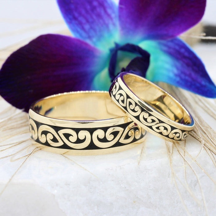 NC32515-1BS - Koru Matching wedding ring set