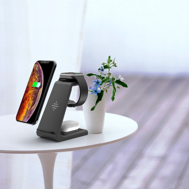 3 in 1 Wireless Charger Station For iPhone/Samsung Galaxy