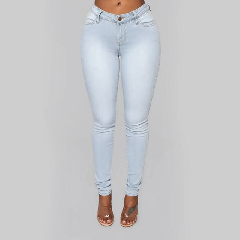 Women's High Waisted Stretch Slim jeans
