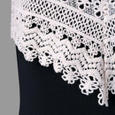 Women's Crochet Lace Backless Mini Slip Dress