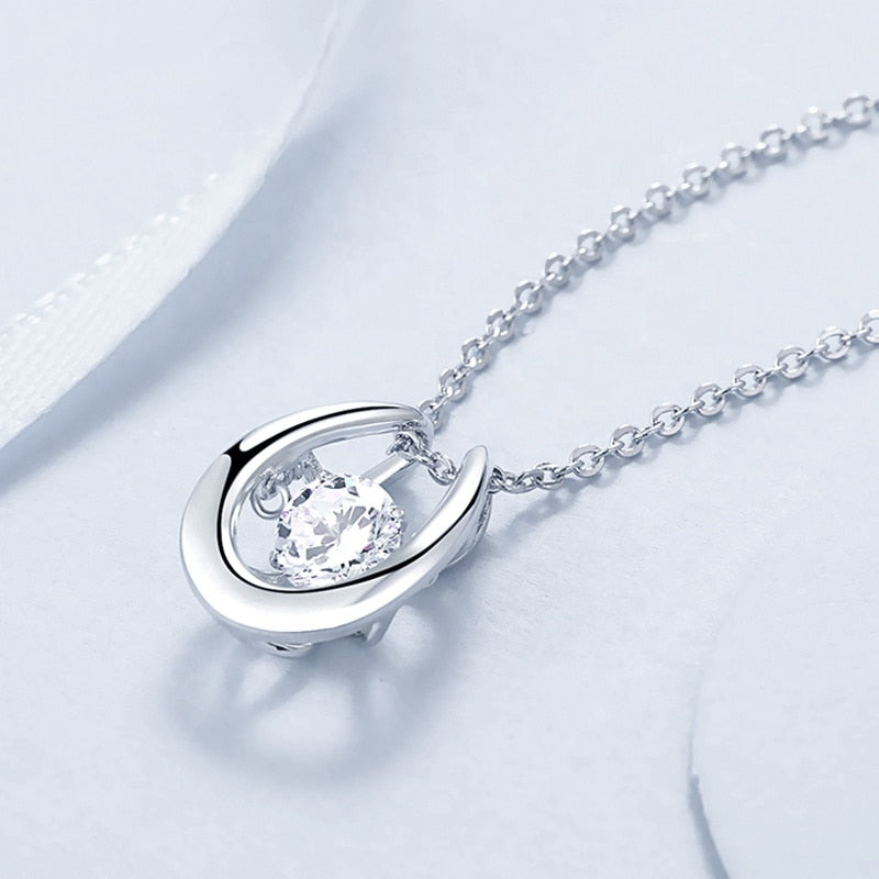 1ct Twinkle Moissanite Diamond Pendant Necklace