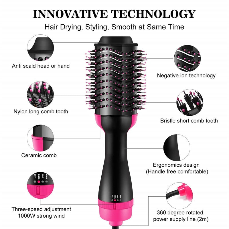 3-in-1 Hair And Volumizer Professional Hair Dryer