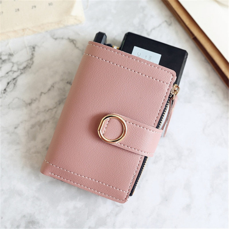 Leather Buckle Wallet