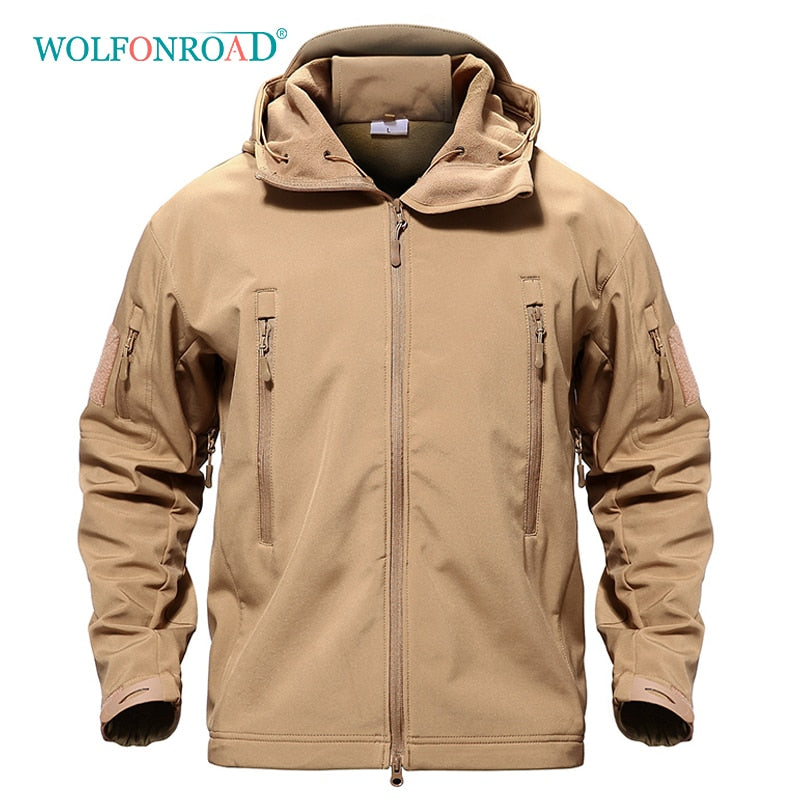 Mens Outdoor Waterproof Hiking Softshell Jacket