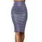 Womens High Waisted Zipper Skirt
