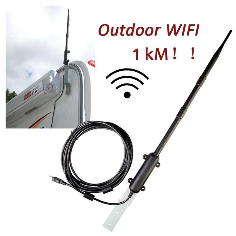 High Power 1000M Outdoor WiFi USB Adapter WiFi Antenna 802.11b/g/n