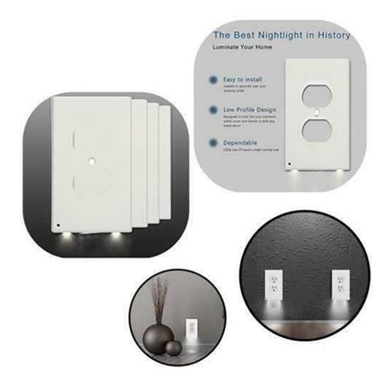 5 Pack Outlet Cover Duplex Wall Plate Led Night Light