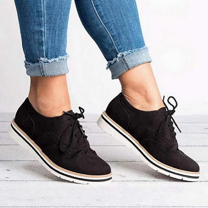Women's Oxford Lace Up Loafers