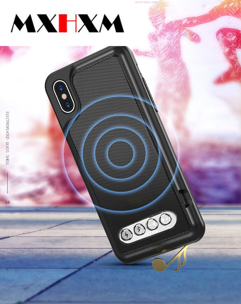 Multifunction 3in1 Emergency Battery BLUETOOTH SPEAKER CASE FOR iPhone 6/6S 7 8 Plus X/XS Max XR