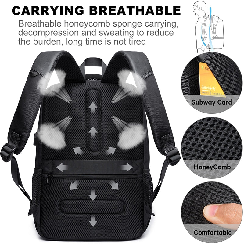 Large Capacity 15.6 inch USB Charging Backpack