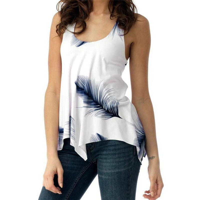 Women's Print Sleeveless Bandage Top
