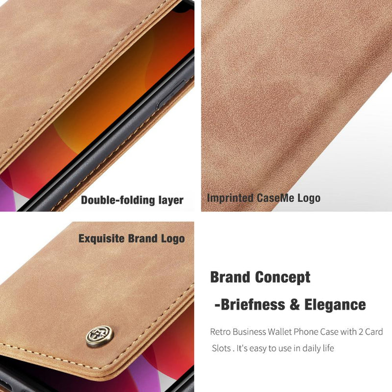 Retro Leather Wallet Phone Case For iPhone 11/11pro/11pro max