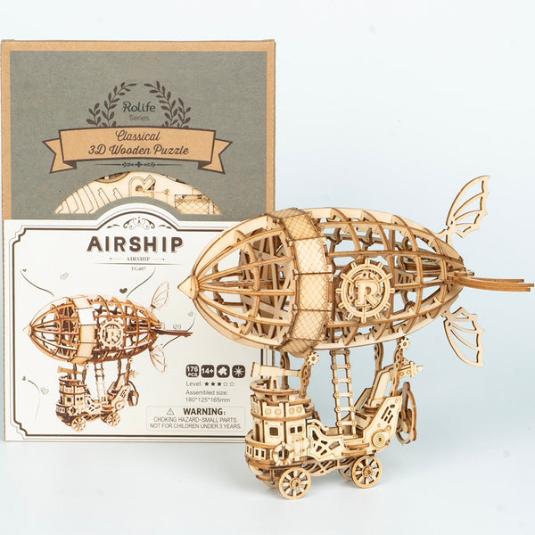 Wooden Airship Puzzle Game