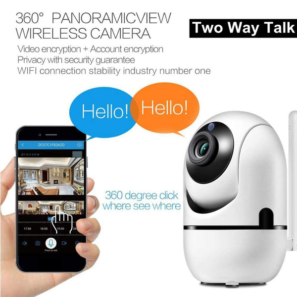 Wireless Wifi Smart Infrared Anti Theft Ip Camera 1080P