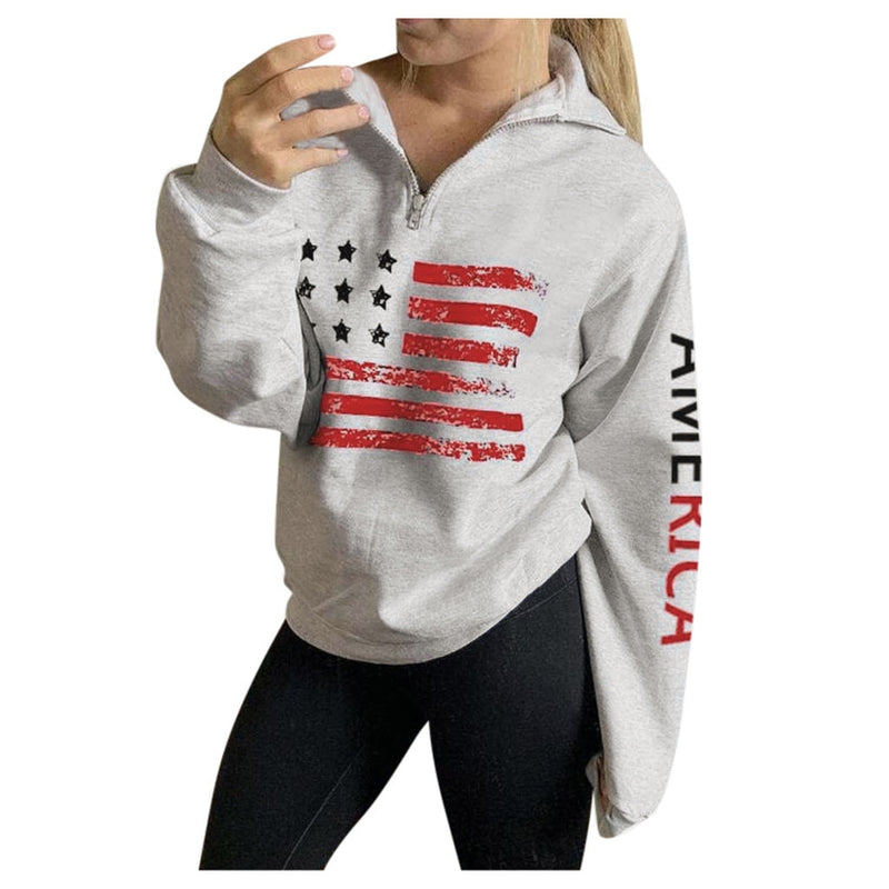 USA Printed Women's Pullover