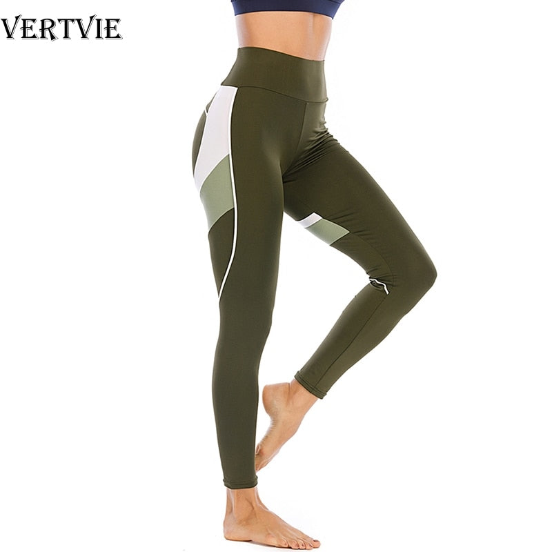 Women's Stitching Color Sports Fitness Yoga Leggings