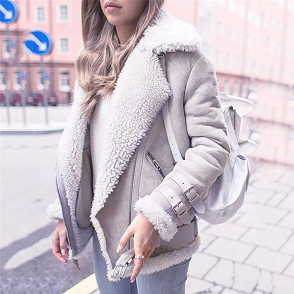 Faux Fur Fleece Coat