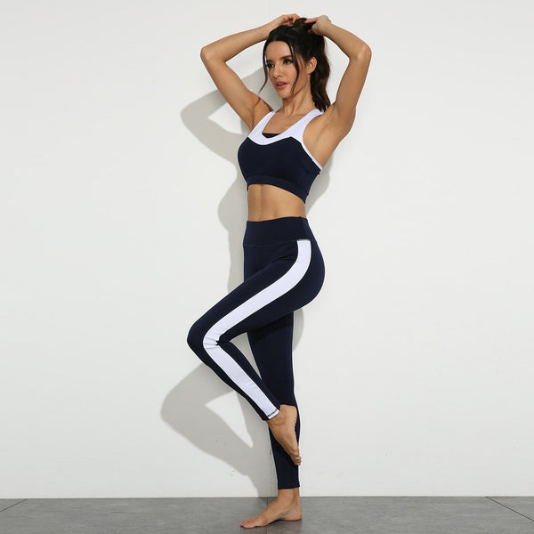 Women's Halter Bra and Leggings Tracksuit Fitness Set