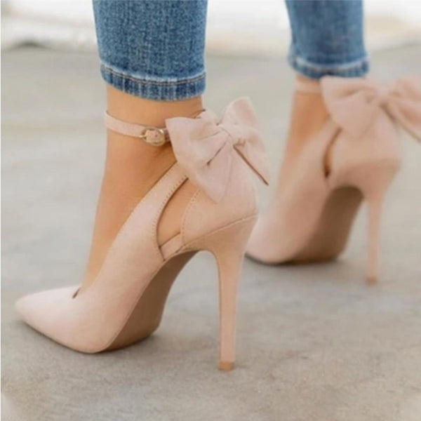 Women's Buckle Strap Bowknot High Heels