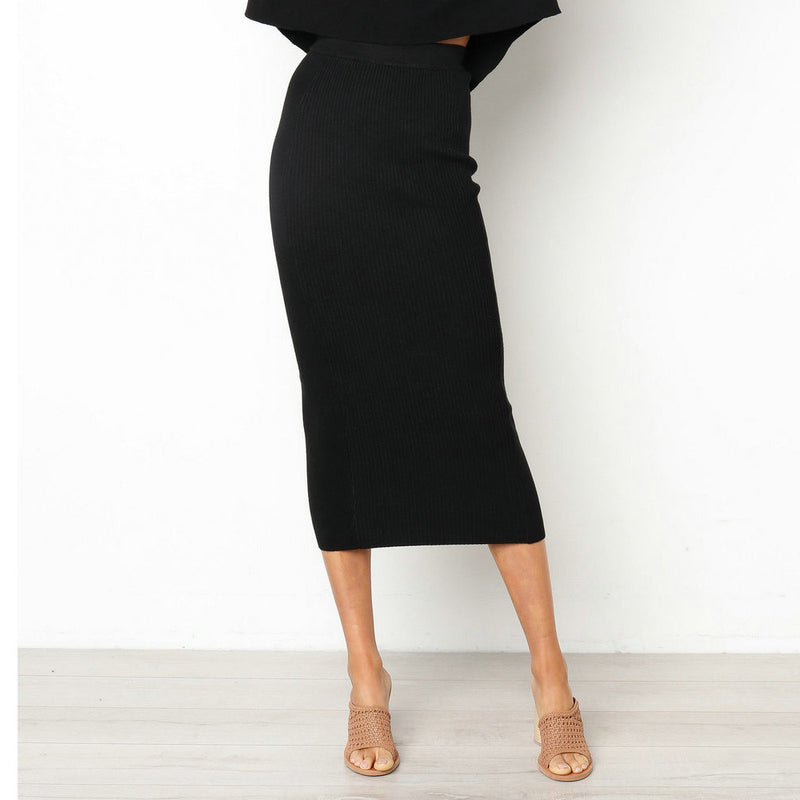 Sexy High Waist Slim Straight Midi Bodycon Skirt