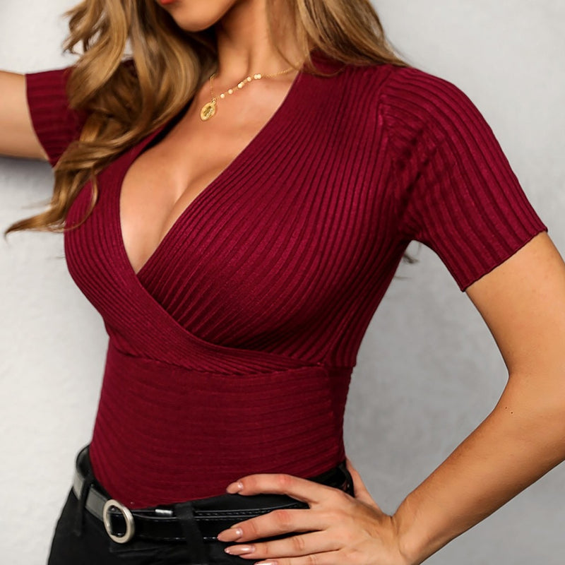 Ladies Deep V Neck Top