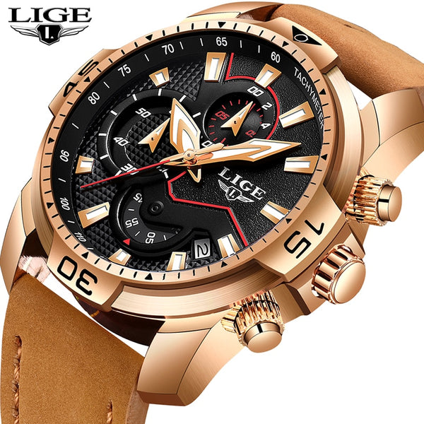 LIGE  Men's Multi Function Sport Watch