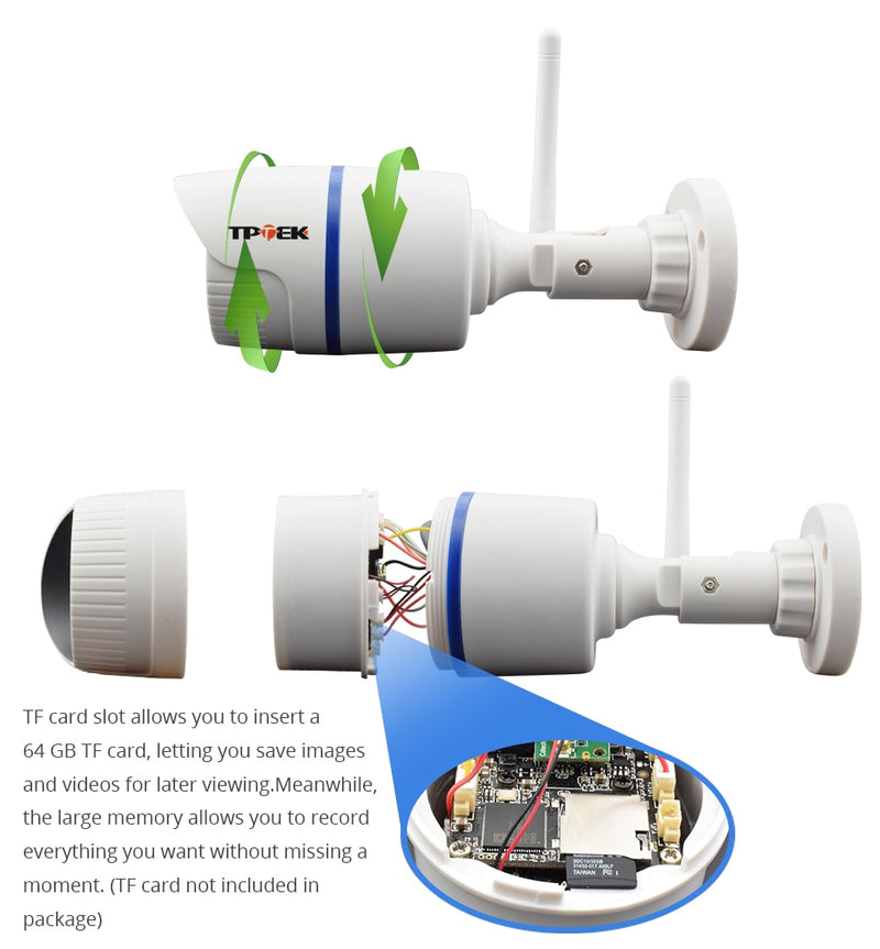 HD 1080P IP Camera Outdoor WiFi Home Security Camera