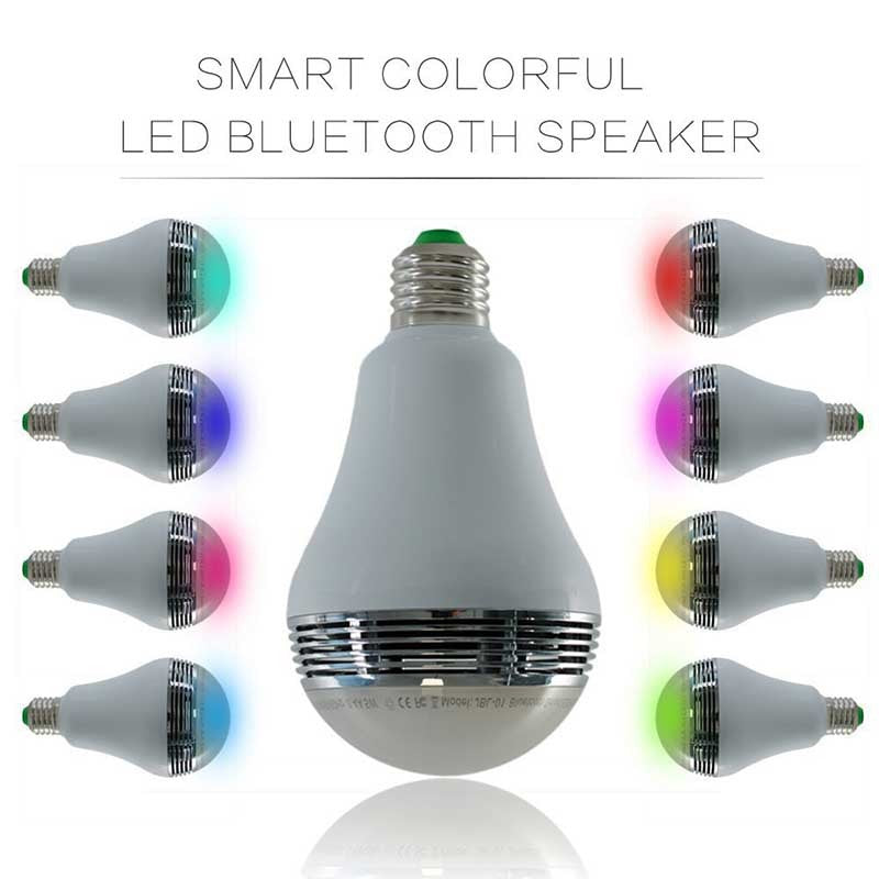 WiFi Smart Bulb Bluetooth 4.0 RGB E27  With Audio Speakers