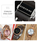 Women's BOBO BIRD Simple Wood Watch with Wooden Box