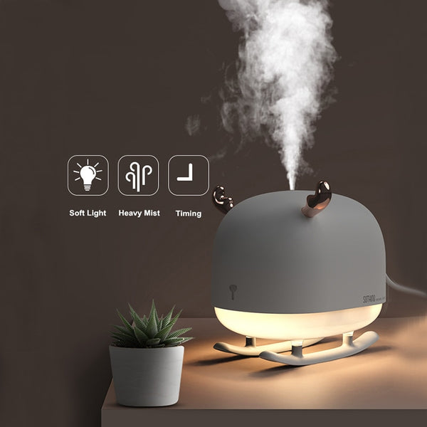 260ML Sleigh Deer Ultrasonic Air Humidifier Aroma Essential Oil Diffuser for Home