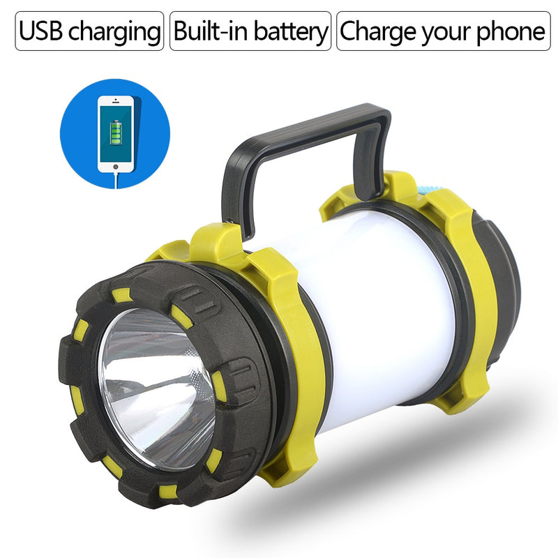 Powerful USB Rechargeable Camping LED Flashlight