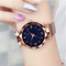 Ladies Watch Women Watch Magnetic Starry Sky Clock