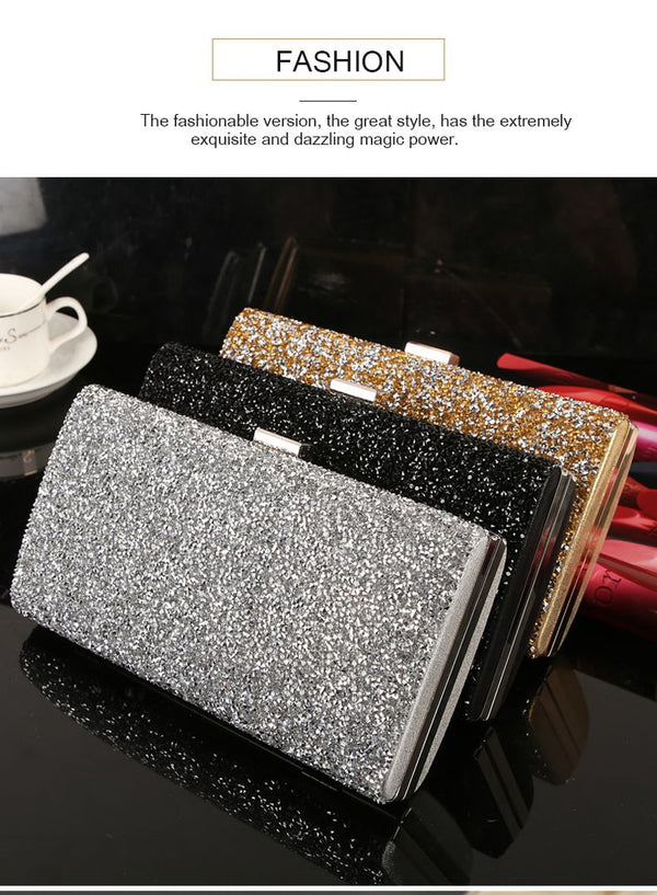 Women's Diamond Sequin Clutch