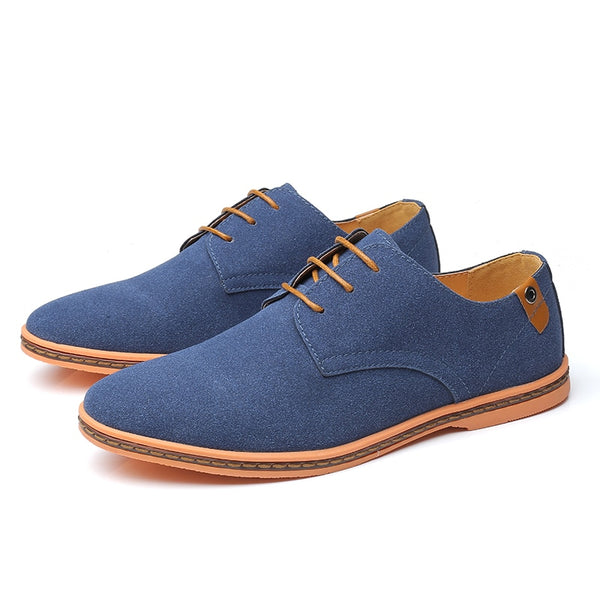 Men's Oxford Casual Suede Leather Autumn Brand Classic Shoe