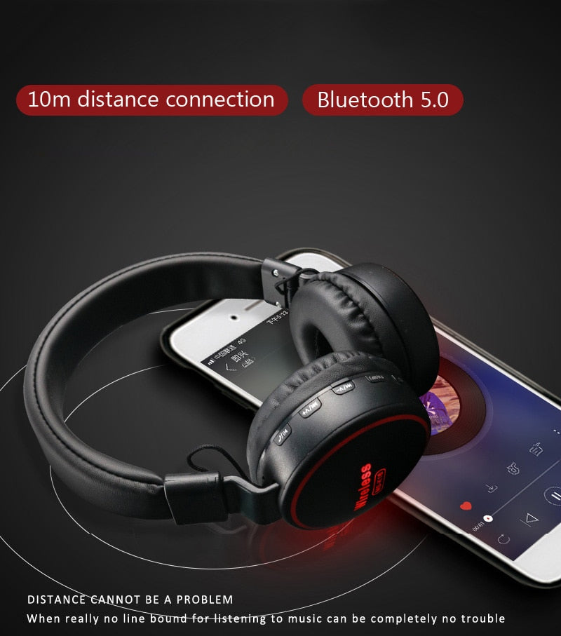 Cool Children's Bluetooth 5.0 Wireless LED Light Headphones With Mic
