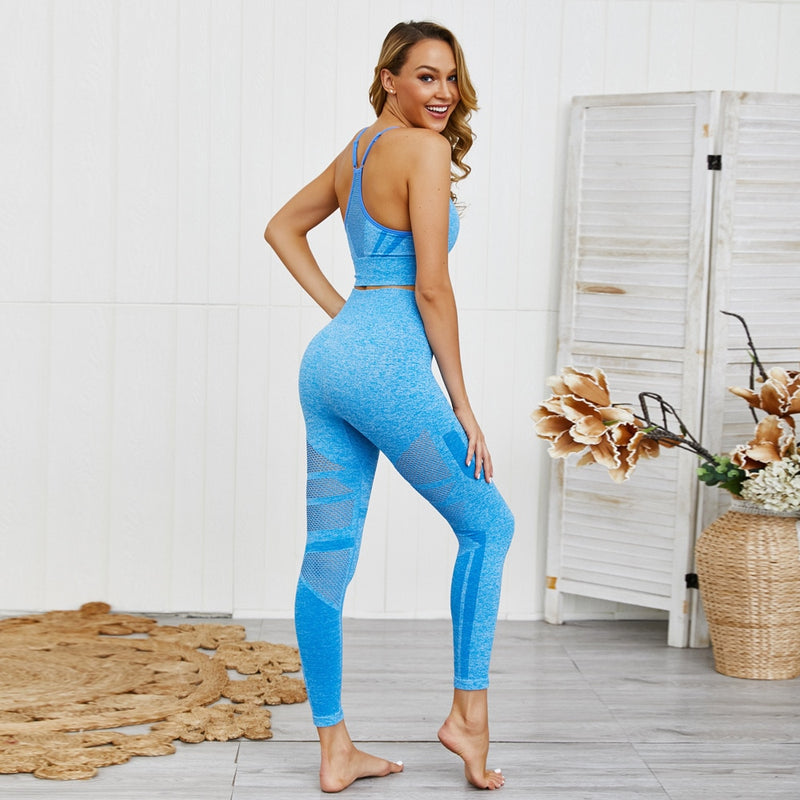 Women's Leggings and Bra Yoga Set
