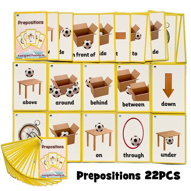 Children Baby English Learning Word Card Pocket Flash Learning Montessori Educational Toys