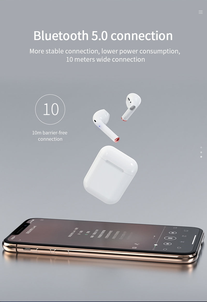 Wireless Bluetooth Earphones With Charging Box for iPhone & Android