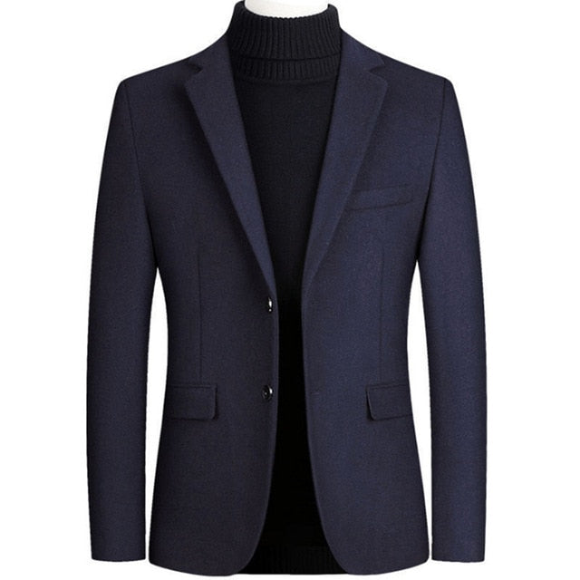 Men's Wool Casual Slim Fit Blazer