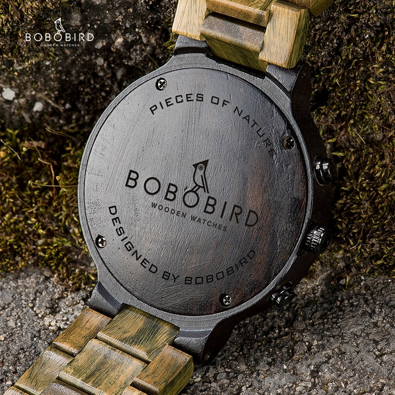 BOBO BIRD Green Sandalwood  Men's Watch