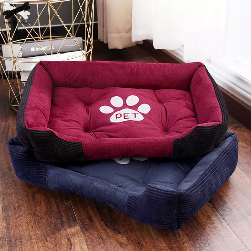 Paw Print Pet Bed