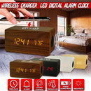 Wireless Charging Led Digital Alarm Clock with Bluetooth Speaker