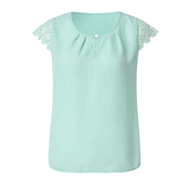 Women's Short Sleeve Chiffon Summer Blouse