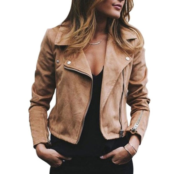 Women's Diagonal Zipper Jacket
