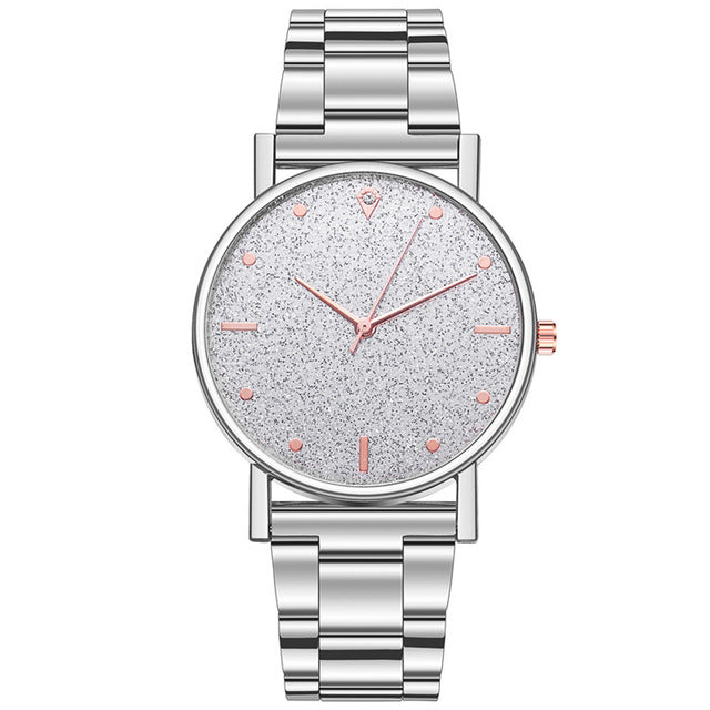 2019 Fashion Women's steel Bracelet Watches Luxury Diamond Star dial