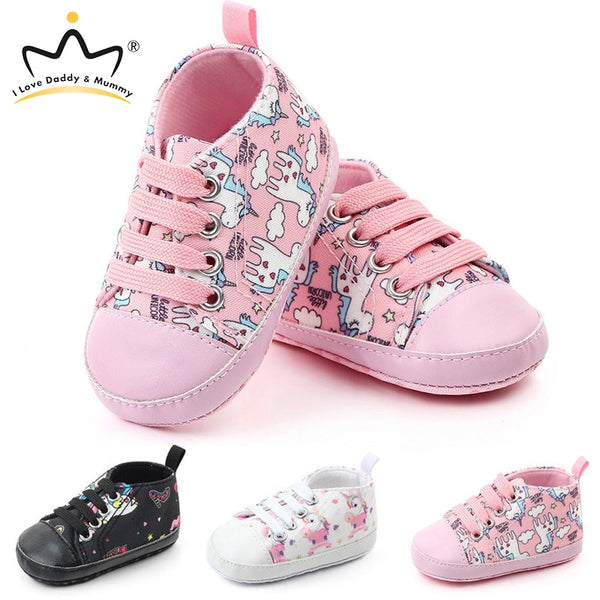 New Cute Unicorn Baby Shoes Soft Bottom Anti Slip Children Toddler Shoes