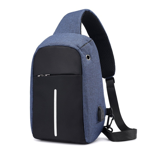 Single Shoulder USB Charging Anti-theft Backpack