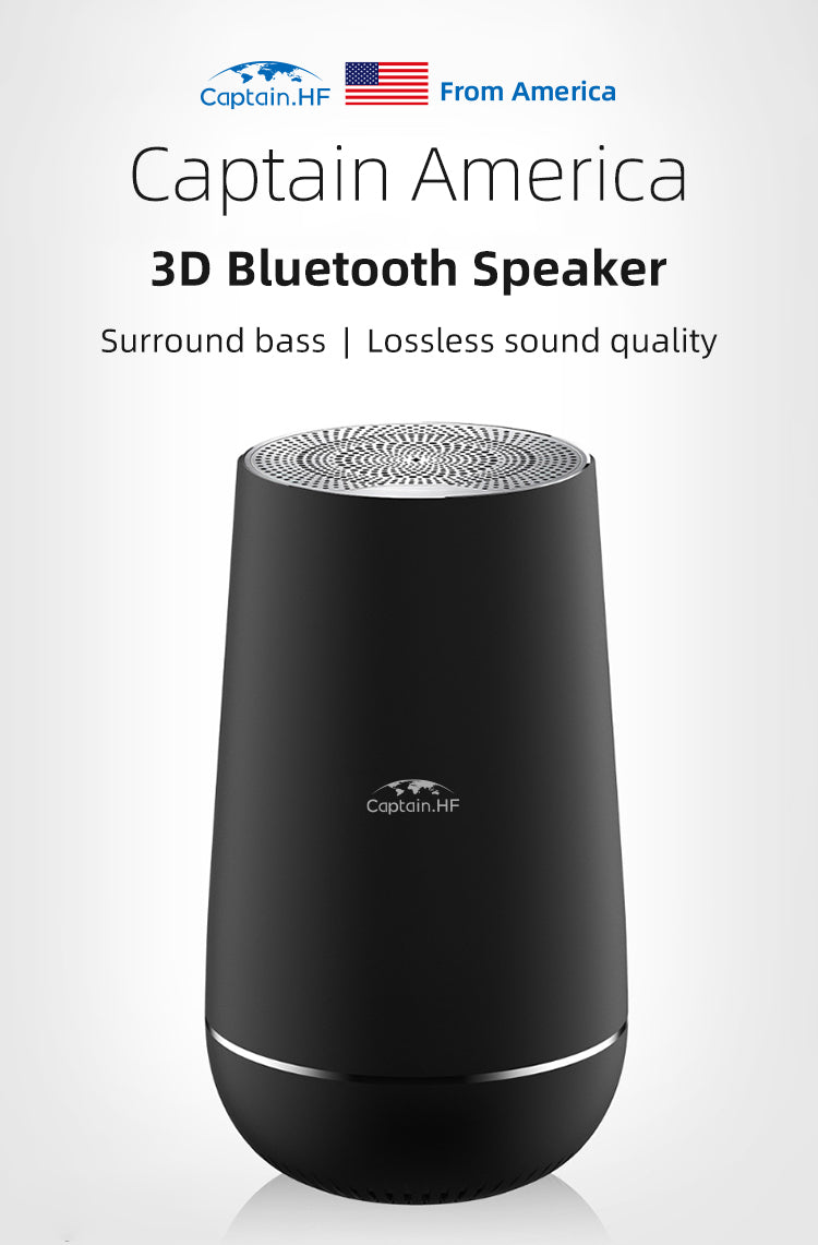 US Captain HF Portable Wireless Bluetooth Speaker