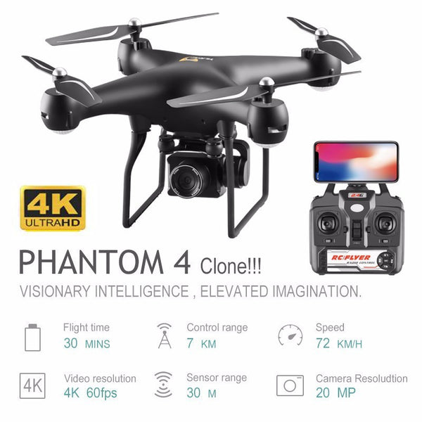 Professional Drone with 4K Rotating ESC Camera HD