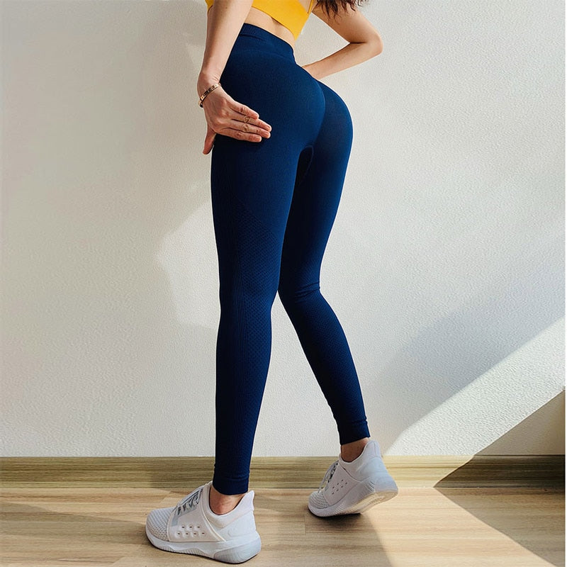 Solid Ombre Energy Seamless Yoga Leggings